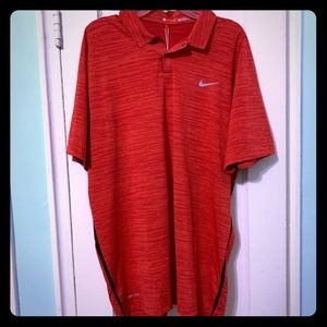 NWT Tiger Woods VL Victory Red Dri-Fit Golf Polo